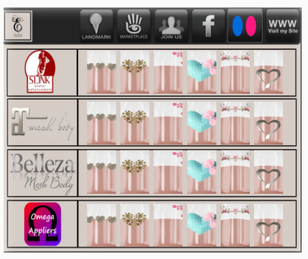 An Omega HUD for Pink Cherry in Second Life.