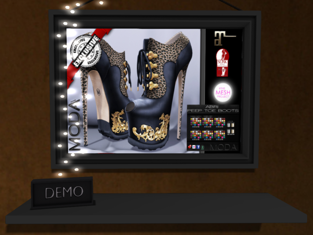 MODA brand Abri heels with a demo.