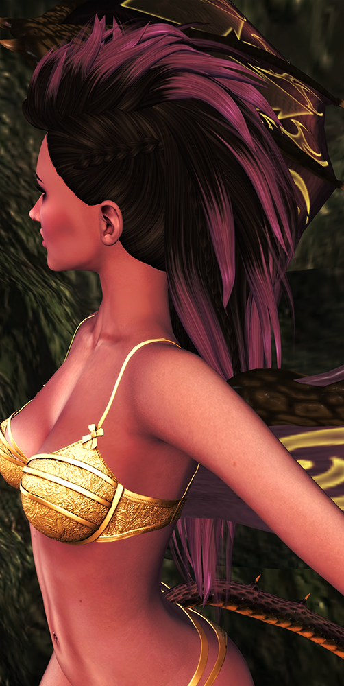 A second life demoness shows off her TRUTH Rogue hair