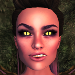 A second life demoness shows off her FATEeyes by damien fate