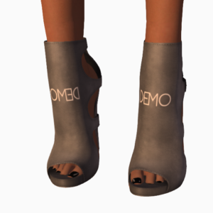A female Second Life avatar wearing demo shoes from fri.day.