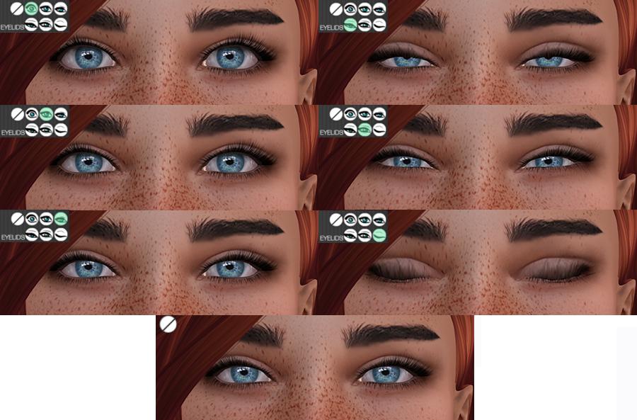 The HUD eye options on Vista Animations bento head Lia