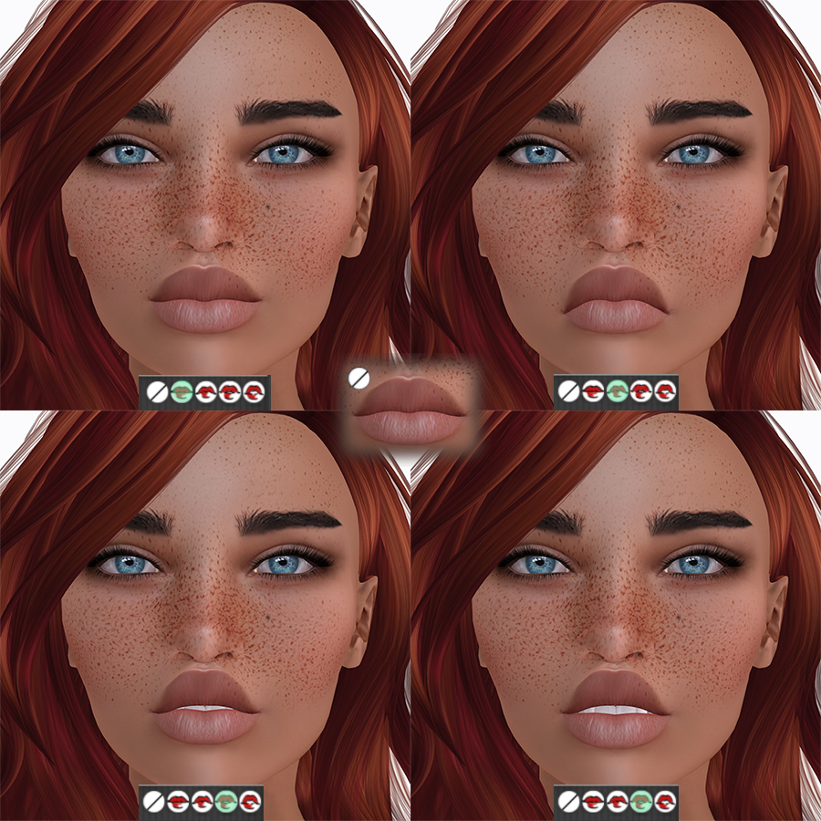 The HUD mouth options on Vista Animations bento head Lia