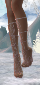 A second life avatar shows off her rose athena boots by Phedora