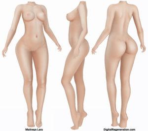 The Maitreya Lara mesh body in Second Life.