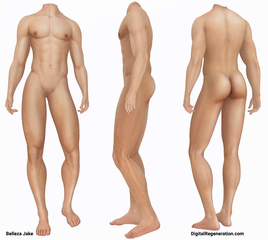 The Belleza Jake mesh body in Second Life.
