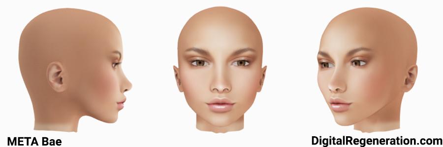 The META Bae head for Second Life avatars