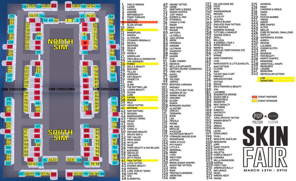 Skin Fair 2021 Map