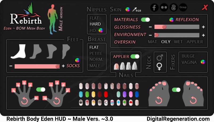 The male Rebirth HUD